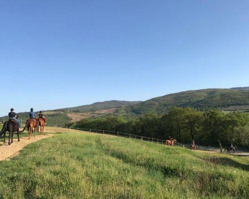 Passeggiate a Cavallo vicino Siena, in Toscana - Fattoria Tègoni